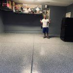 Stone Grey Rust Blue Epoxy Flooring